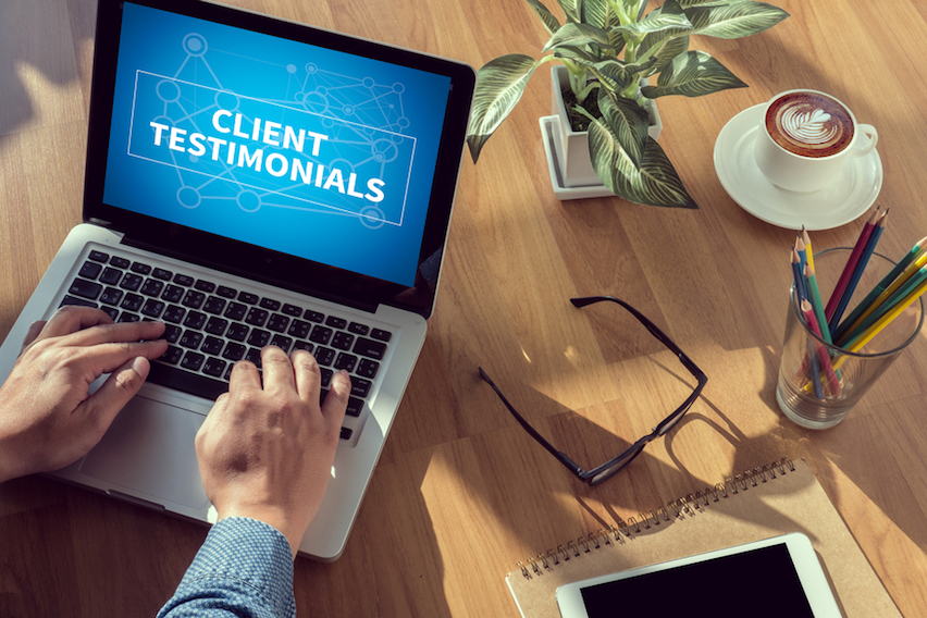Ask your Clients to Drop Testimonials